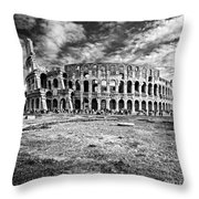 The Majestic Coliseum - Rome Throw Pillow by Luciano Mortula