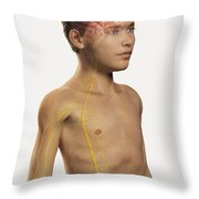 The Nervous System Pre-adolescent Throw Pillow