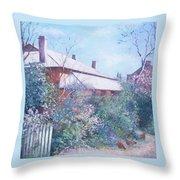 The Old Farm House Throw Pillow