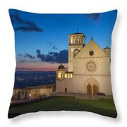 The Papal Basilica Of St. Francis Of Assisi  Throw Pillow