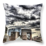 The Shard And South Bank Throw Pillow