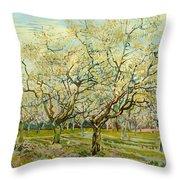 The White Orchard Throw Pillow