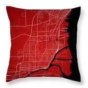 Thunder Bay Street Map - Thunder Bay Canada Road Map Art On Colo Throw Pillow