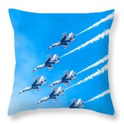 Thunderbirds And Blue Sky  Throw Pillow