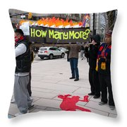 Tibetan Protest March Throw Pillow