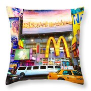Times Square - New York City Throw Pillow
