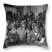 Tuskegee Airmen, 1945 Throw Pillow