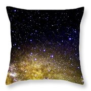 Under The Milky Way Throw Pillow