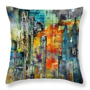 Urban View Throw Pillow by Katie Black
