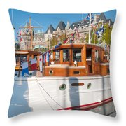 Victoria Wooden Boat Show Throw Pillow