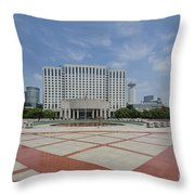 View From Peoples Park, Shanghai Throw Pillow