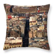 View From Torre Latinoamerican Throw Pillow