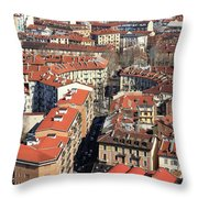 View Of Turin Throw Pillow