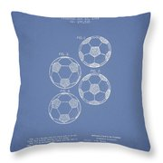 Vintage Soccer Ball Patent Drawing From 1964 Throw Pillow