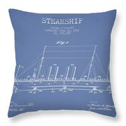 Vintage Steamship Patent From 1911 Throw Pillow