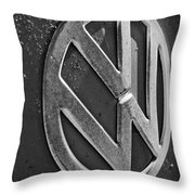 Volkswagen Vw Bus Front Emblem Throw Pillow