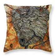 Wasp Nest Throw Pillow