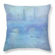 Waterloo Bridge Throw Pillow