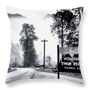 Welcome To Twin Peaks Throw Pillow
