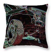 4 Wheelin Throw Pillow