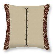 White Written In Ogham. Throw Pillow