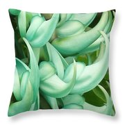 Jade Vine Throw Pillow