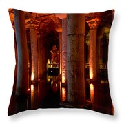 Yerebatan Sarayi Cistern Istanbul  Turkey    Throw Pillow