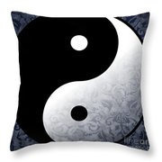 Yin And Yang 2 Throw Pillow