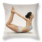 Yoga Bow Pose Throw Pillow