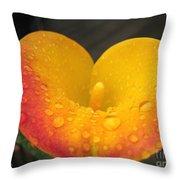 Zantedeschia Named Flame Throw Pillow