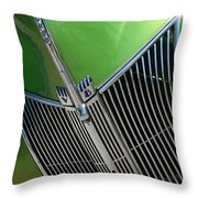 40 Ford - Grill Detail-8633 Throw Pillow