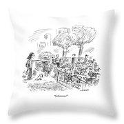 Schmooze! Throw Pillow