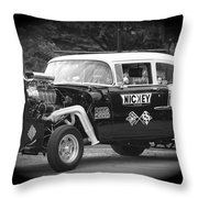 409 Cu Inches Black And White Throw Pillow