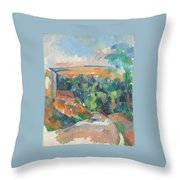 The Bend In The Road Throw Pillow