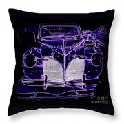 41 Lincoln In Neon Throw Pillow