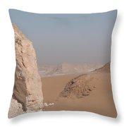 White Desert Throw Pillow