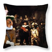 Dachshund Art Canvas Print Throw Pillow