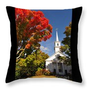Lunenburg, Ma - Fall Foliage Throw Pillow