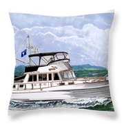 42 Foot Grand Banks Motoryacht Throw Pillow