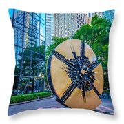 Skyline And City Streets Of Charlotte North Carolina Usa Throw Pillow