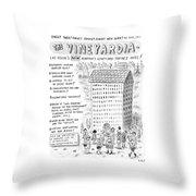 The Vineyardia Throw Pillow
