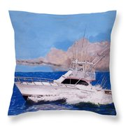 Storm Chasing On The High Seas Throw Pillow