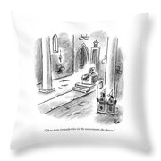 There Were Irregularities In The Succession Throw Pillow
