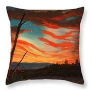 Our Banner On The Sky Throw Pillow