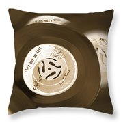 45 Rpm Records Throw Pillow