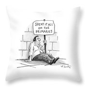 New Yorker February 21st, 2000 Throw Pillow