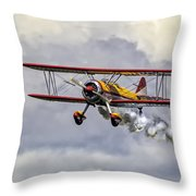 450 Hp Stearman Throw Pillow