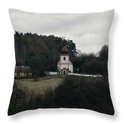 Church And Historical Houses Throw Pillow