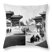 China Boxer Rebellion Throw Pillow