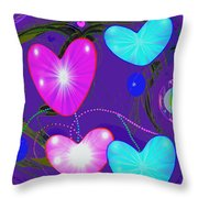 472 -  Valentine Hearts  ... Throw Pillow